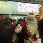 Santa at the HK airport 2015 Christmas event