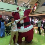 Performers HK Giant Santa performing at TKO in Hong Kong