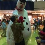 Metting patrons at a shopping centre in Hong Kong