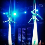 Aerial Duo Silk at HKCEC.