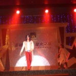 Michael Jackson look alike onstage at a corporate functions on Hong Kong