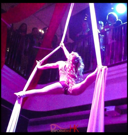 Female aerial performer in Hong Kong for events and parties