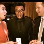 Carina Lau being impressed by Shaun amazing magic.