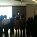 Our headless man bringing in large crowds at Hysan Place shopping mall.