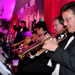 Brass band performing on stage in Hong Kong
