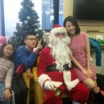 Santa at Cheung Kong Centre