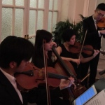 Four String players in Hong Kong performing at the wedding reception