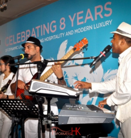 3 Piece band playing for a corporate functions