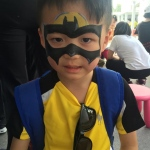 A little batman at the Clear Water Bay School event.