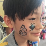 Spider face painting- Perfect for Halloween.