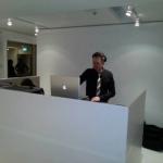 DJ G spinning.