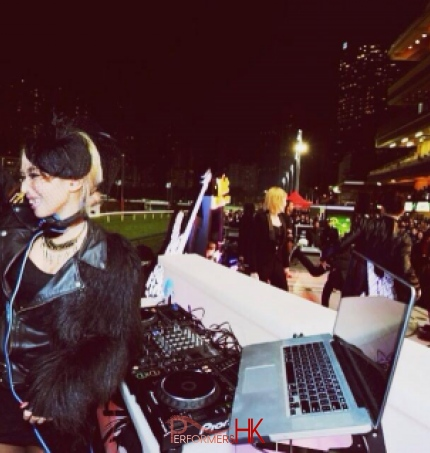 DJ Bezi and large crowd in Hong Kong