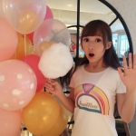 Balloons and candy floss with model server