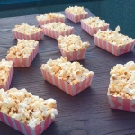 Sweet pop corn in container
