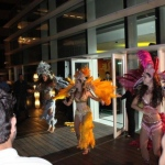 Brazilian dancers perform at the MGM Hotel.