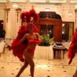 Our Vegas showgirls dancing at 109 Repulse Bay.