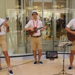 Our ukulele trio at the Pacific place.