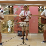 Ukulele players at the Pacific Place performing.