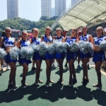 Our dancers cheerleading and looking great for the Rugby Sevens in Hong Kong.