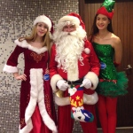 Santa with two Elf at Sogo.