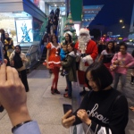Santa with Santa girl and Elf at the Sogo TST