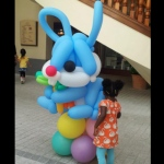 Giant Bunny Balloon Sculpture at 109 repulse bay .