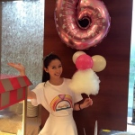 Our pretty model serving corporate guests at the Aberdeen Marina Club Hotel in Hong Kong.