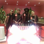 Drumming on bottles and cans for Coke Cola show at Mira Mall Hong Kong.