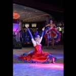 Can can dancer at City of Dreams Macau, also available for hire in Hong Kong.