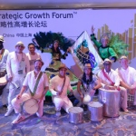 Our percussion performers at Shanghai China.