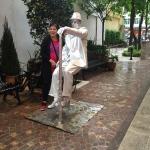 Levitating cane man