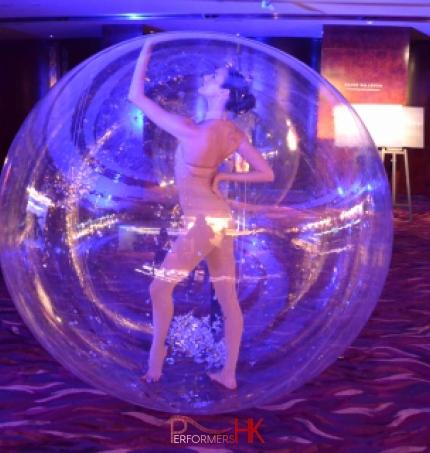 Girl inside bubble