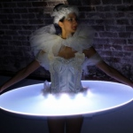 LED ballerina style human canape costume