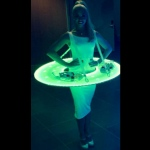 Glow in the dark lights on LED canape costume