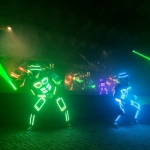 Tron dance performance multicolor LED dance outfit combine with cool music to bring that cyber edge to your function