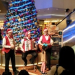 Xmas music Trio performing at Telford Plaza 2015