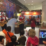 Trio musician playing Xmas classics in shopping mall in Hong Kong for MTR malls 2015
