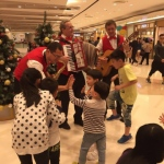 Musicians interacting with kids at Pop Corn mall Hong Kong 2015