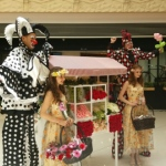 Performers HK presents our beautiful stilts walkers as part of the Elements flowers fun event.