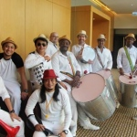 Drum Team with Trumpet about to play at a conference in Hyatt TST, Hong Kong