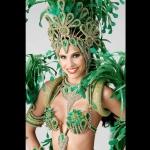 Green Samba costume head shot