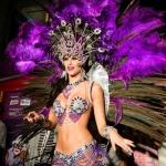 Samba purple costume dancer