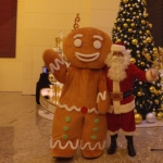 Santa Philip with Gingerbread man at IFC