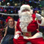 Young lady with Santa Steve