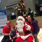 Family photo with Santa Steve