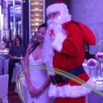 Santa John photo with guest