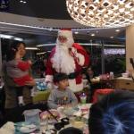 Santa John at a family dinner function in Sha tin