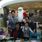 Family function with Santa John