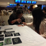 Our Temp Tattoo artist at an annual dinner