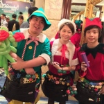 Balloons Elfs on the prowl to entertain partons in Hong Kong